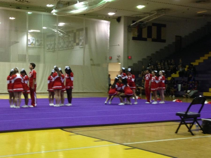 Varsity cheer qualifies for regionals