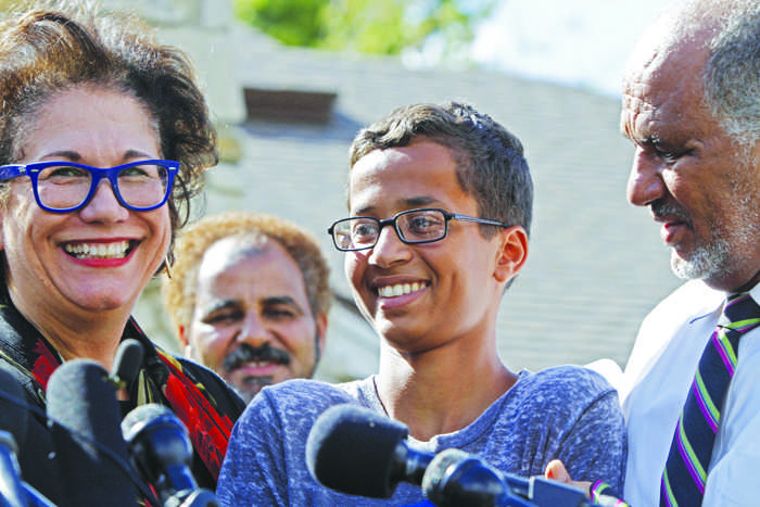 Ahmed Mohamed, a Texas freshman, was arrested for making a clock that was mistaken for a bomb.