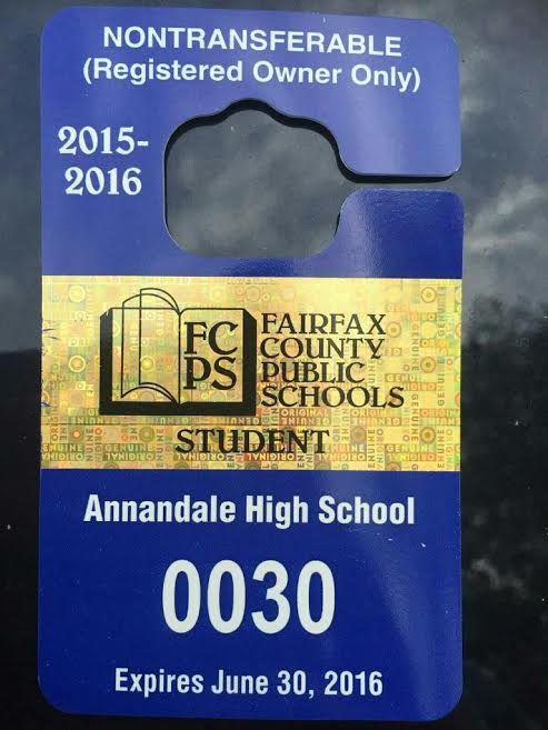 FPCS has an official pass that needs to be displayed when students park.