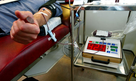 If a gay man has engaged in relations with another man since 1977, he is prohibited from donating blood.