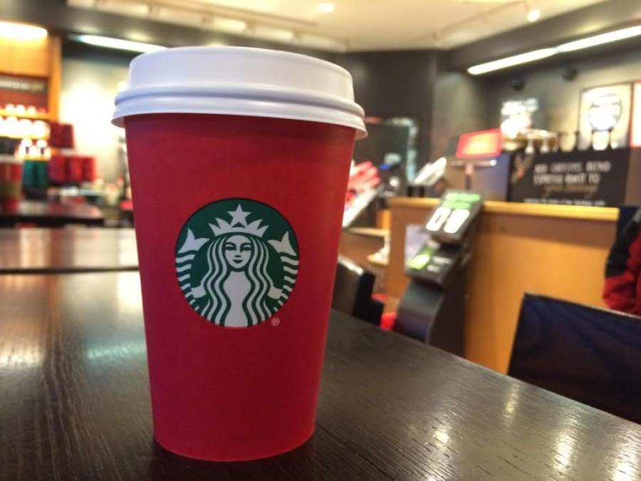 Starbucks new cup features a simple red ombre design