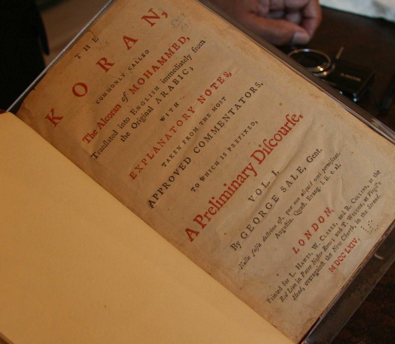 President Thomas Jefferson's copy of the Koran