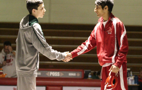 Hamaad Lodhi greeting his opponent at last years pack the pit