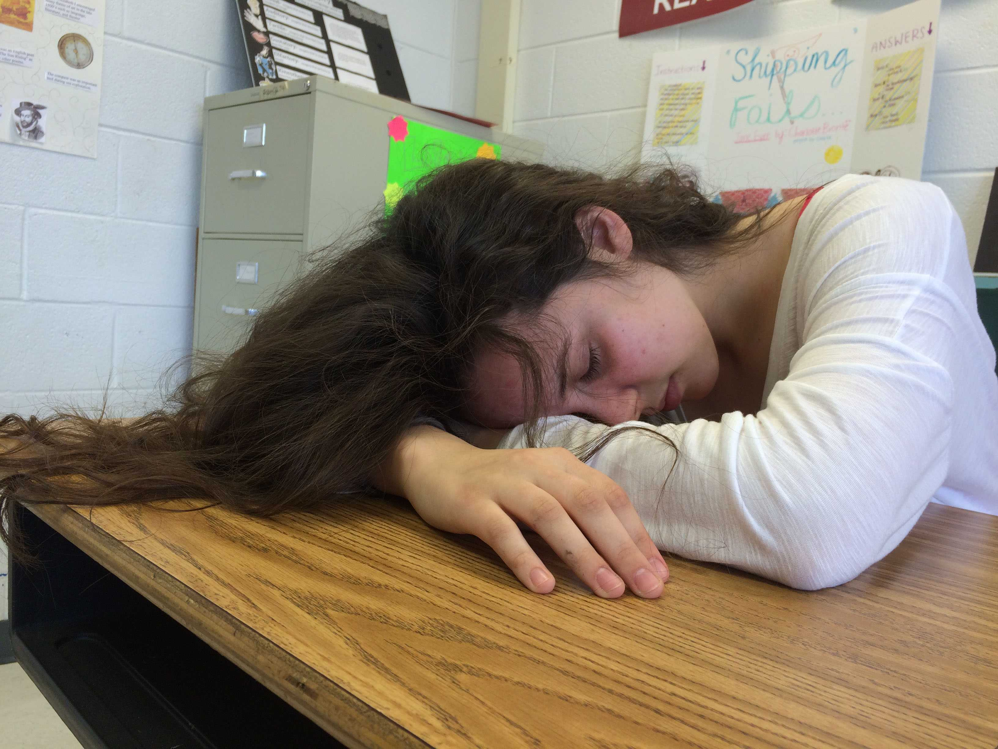 Students often fall asleep in the back of the class.