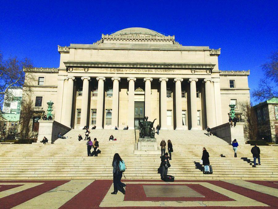 The main library at Columbia University in New York.
