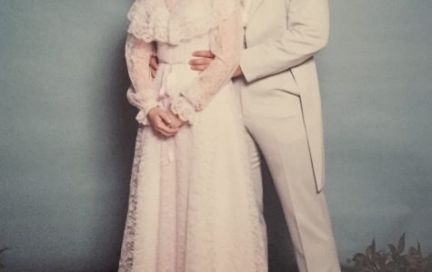 Dwyer attending prom in 1983 at West Springfield High School.