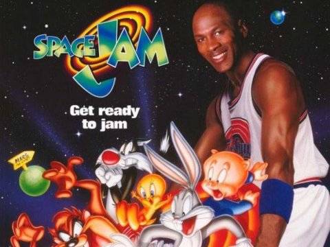 Space Jam movie poster from the 1996 film.