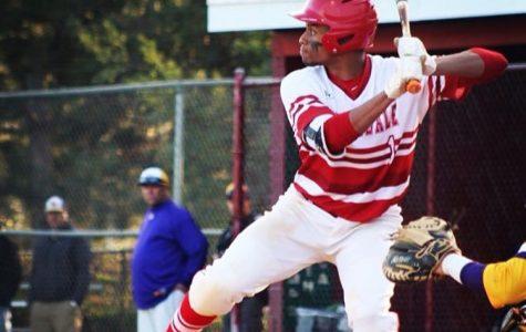 Senior Aaron Boyd batting during a game against Lake Braddock.