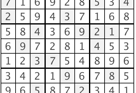 Sudoku Answers, Issue 1
