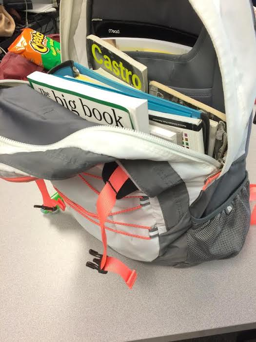 Don%27t+overflow+your+backpack+with+too+many+binders+or+textbooks.+The+weight+may+create+a+drag+on+your+shoulders+and+having+to+readjust+your+backpack+every+10+minutes+is+annoying.