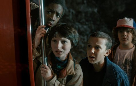 Mike, Eleven, Dustin and Lucas hide while they see something none of them expected.