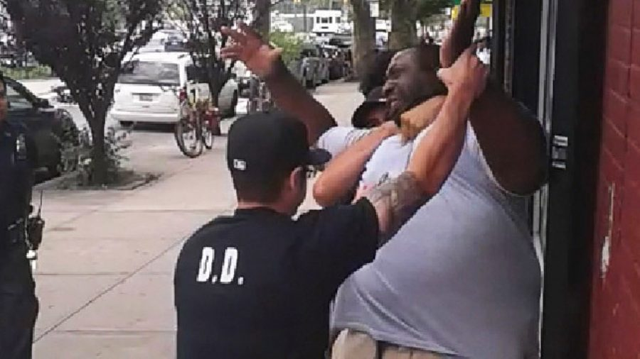 Video grabs taken from the video clips of Eric Garner chokehold altercation with NYPD.