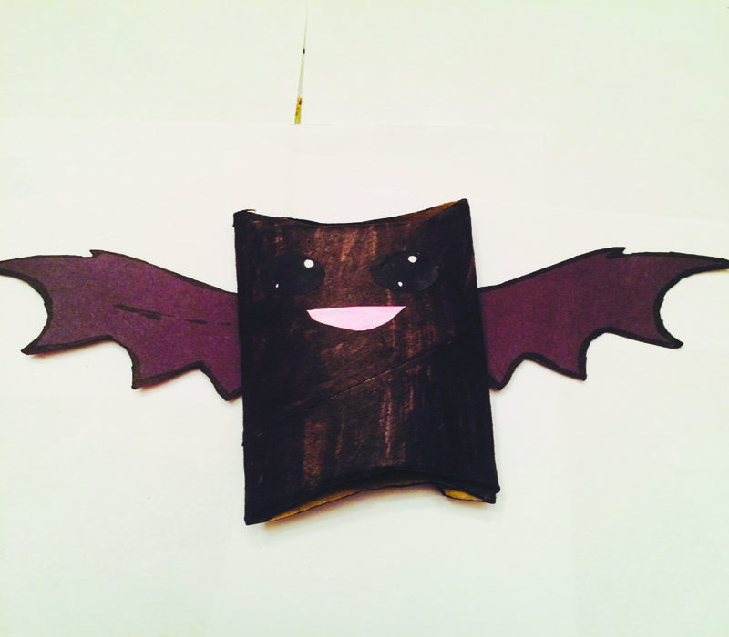 Glue+the+eyes+and+mouth+to+the+bat+and+there+you+go%2C+a+simple+bat+made+with+materials+you+had+at+home.+