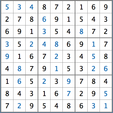 Answer Key  for Issue 3 Sudoku.