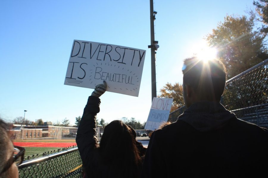 Students organize peaceful protest