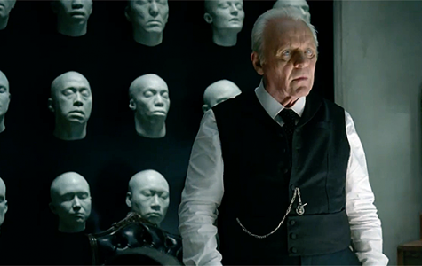 Ford, the founder of Westworld, stands over the final scene of his new narrative.