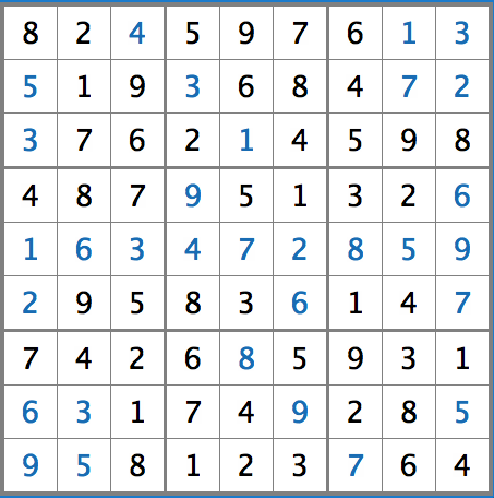 Sudoku Answers, Issue 7