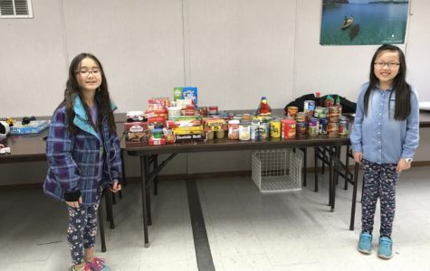 Canned good drive collects donations