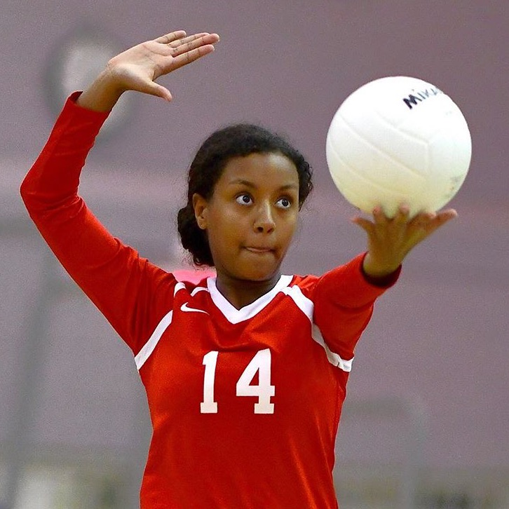Volleyball plays against Hayfield