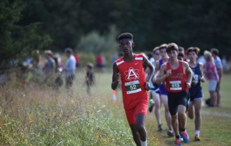 Boys cross country runs in Boonsboro