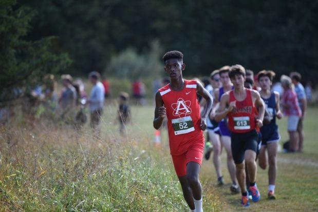 Boys cross country runs in Boonsboro