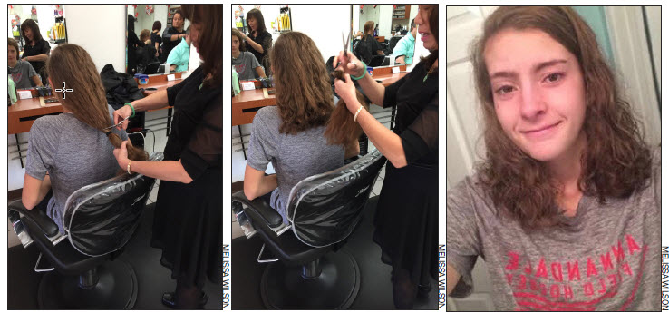 Senior+Melissa+Wilson+donated+her+hair+to+Locks+of+Love+in+November+2016.+She+cut+off+10+inches+to+donate+to+the+non-profit+organization+that+help+kids+who+have+suffered+long-term+or+permanant+hair+loss+because+of+medical+issues.+Locks+of+Love+makes+over+2%2C000+hair+pieces+each+year.+