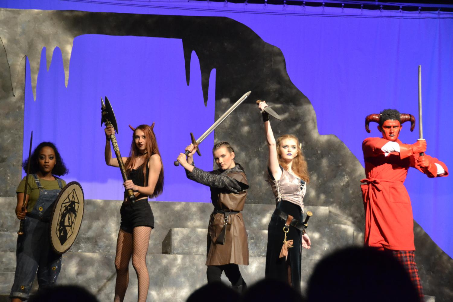 Agnes, Lileth, Tilly, Kaliope and Orcus - one fierce, monster killing party.