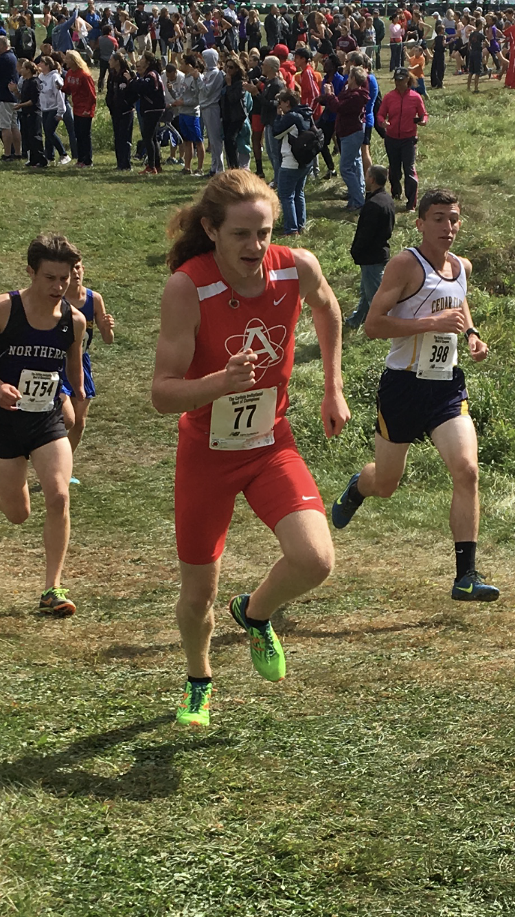 Westfall competes in a cross country meet in Carlisle, Pennsylvania in his senior season where he ran a 17:31. Westfall would go on to compete in the conference meet where he ran a 17:25.