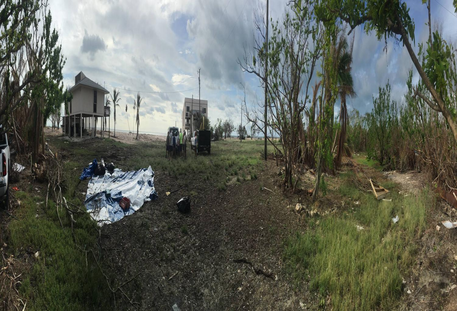 John Arnold's  panoramic of the houses that have once been intact, now left in ruins. The volunteers who were with him are just left in shock from the chaos of Irma.