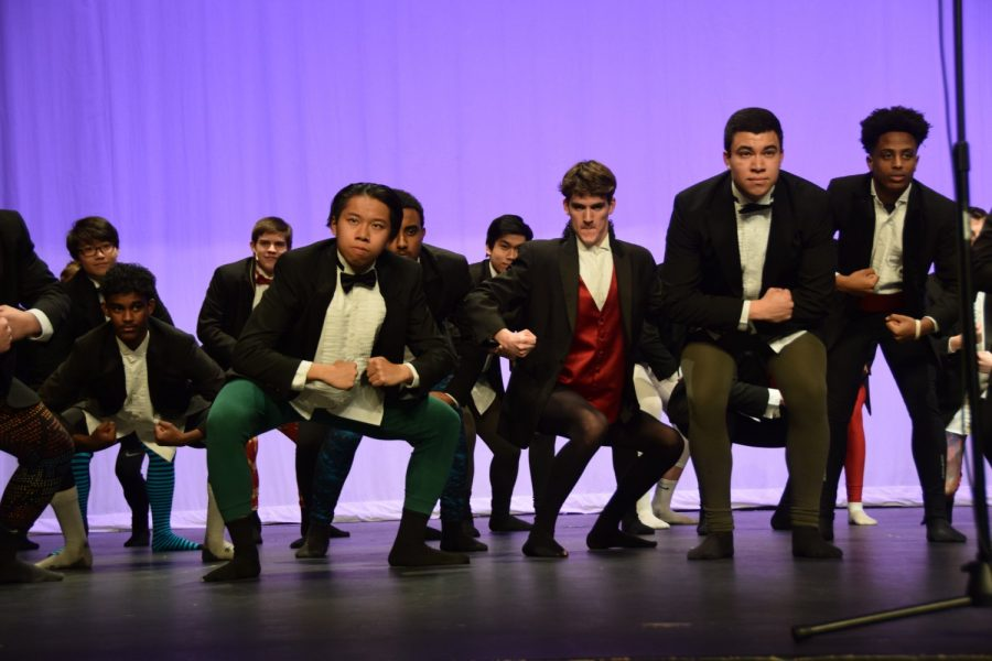Mens Chorale wear tights to do the song