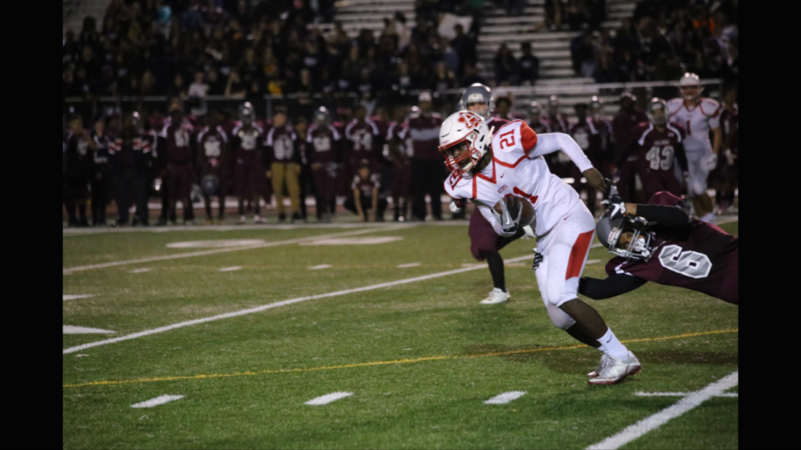 Senior Ahmed Ibrahim has competed on the Atoms Football team for all four years of high school.