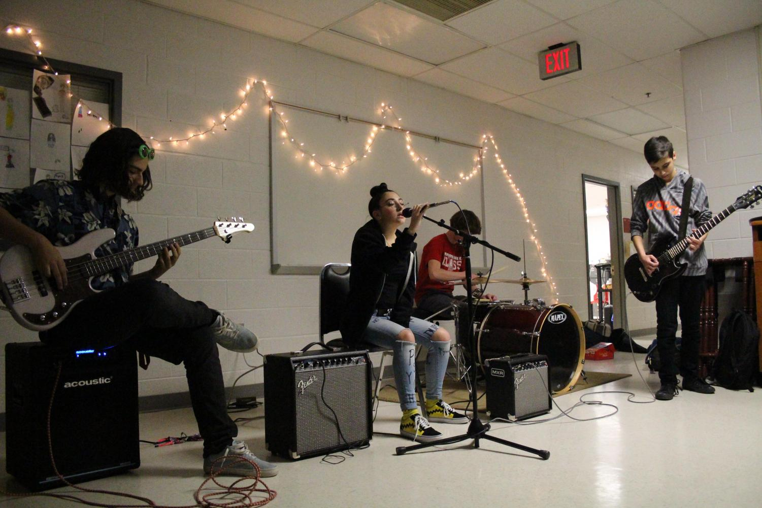 Gabe's Fault performs during the first coffeehouse late last year.