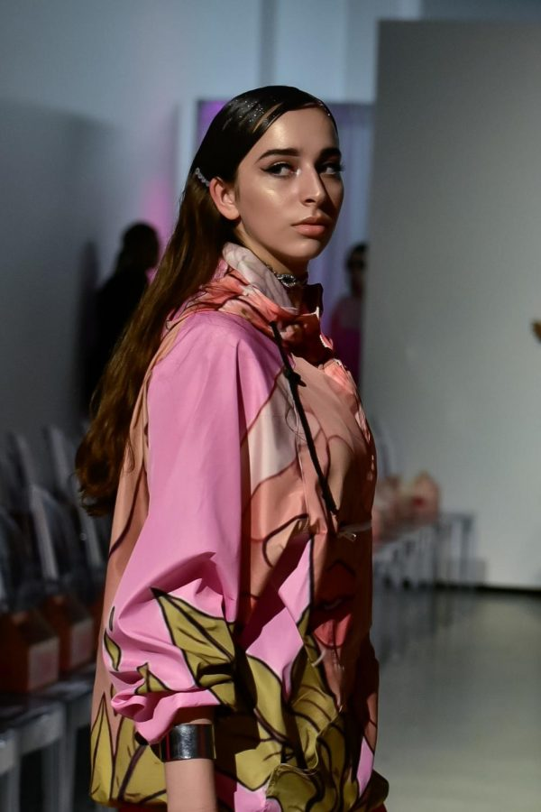 Junior Sherin Nowrouz strikes a pose on the runway.