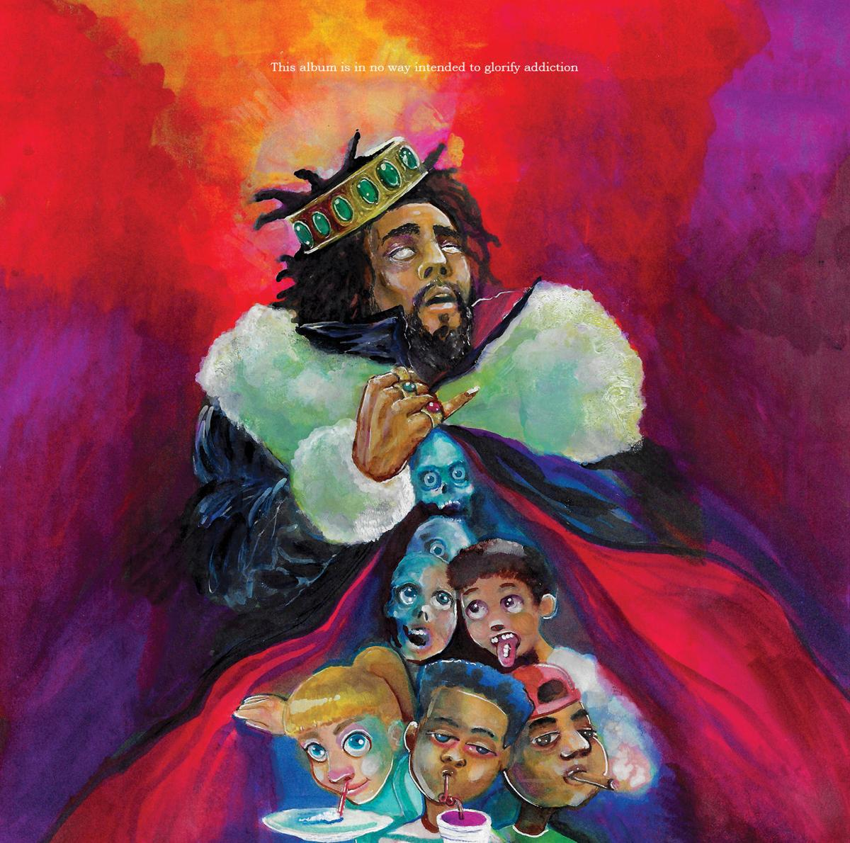 "The cover art features the words ""This album is in no way intended to glorify addiction"" and drawings of several children sipping lean, snorting cocaine and smoking weed."