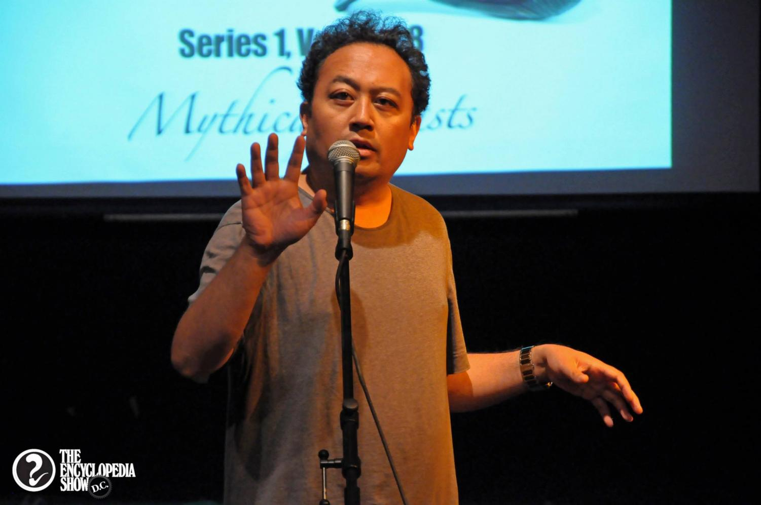 Regie Cabico will be visiting AHS and helping students in the creative writing class with spoken word workshops.