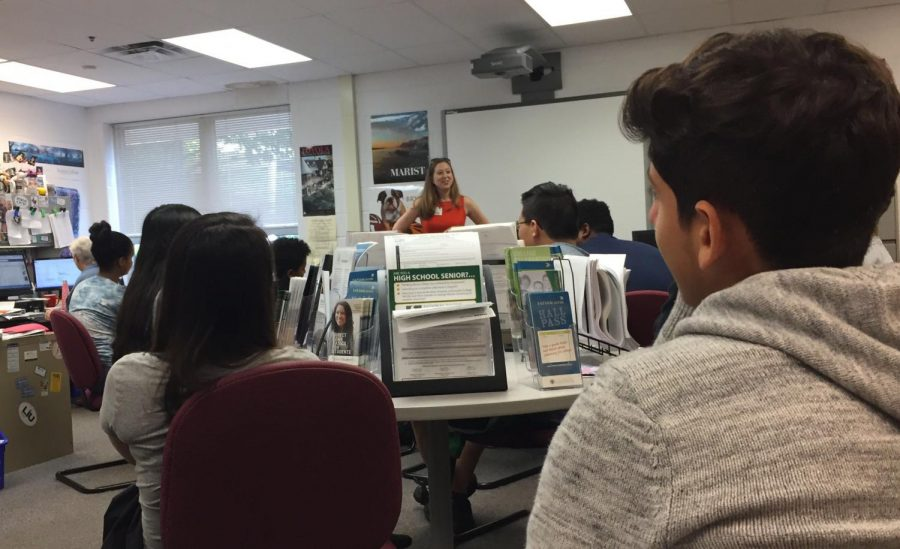 Students pay attention during the UVA college visit at the Career Center on Sept. 20.