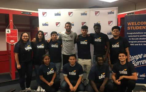 Students visit with D.C. United