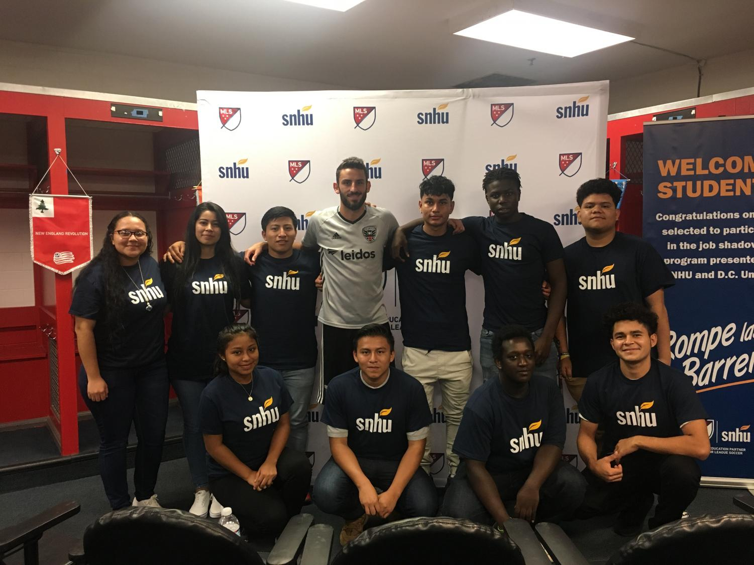 AHS students with D.C. United Defender Steven Birnbaum