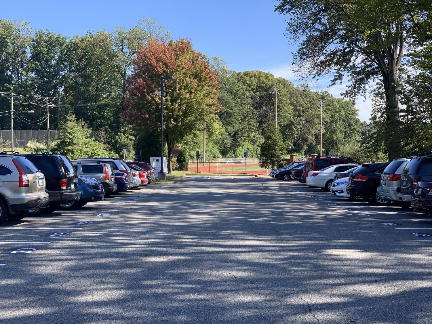 Most students who drive to school typically park their cars in Ossian Hall Park.