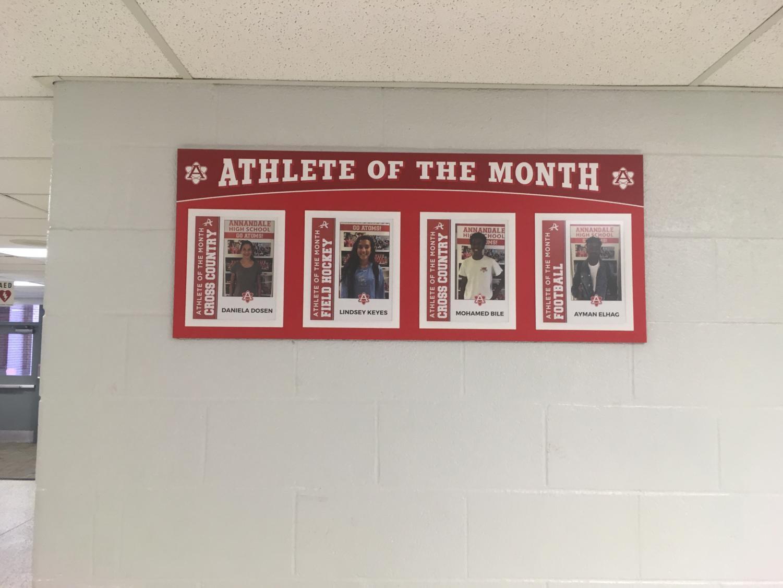 The Aug. and Sept. athletes of the month are freshman Daniela Dosen, junior Lindsey Keyes, junior Mohamed Bile, senior Ayman Elhag