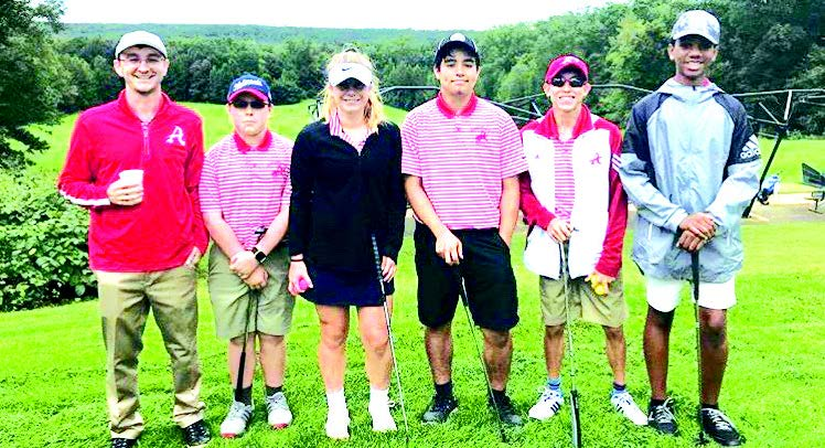 Atoms golf before the Gunston district match at Pohick Bay Golf Club on Sept. 27