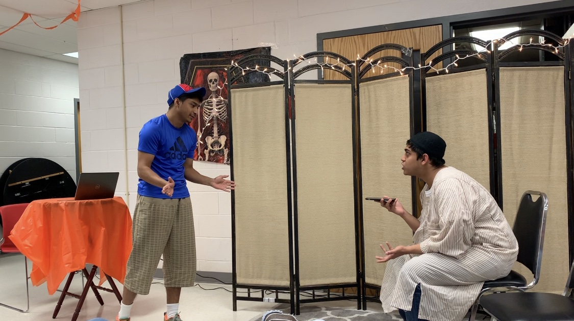 Seniors Zuhair Rahman (Left) and Tahid Mamun (Right) play roles in their one-act play