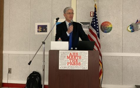 "Richard Wolf speaks at ""AHS Meets the Press"""