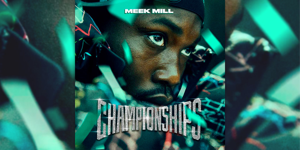 "The cover art features a close up on Meek Mill surrounded by Phillidelphia Eagles colors with the words ""Championships"" in big font resembling that of the Eagles' Super Bowl LII Rings."