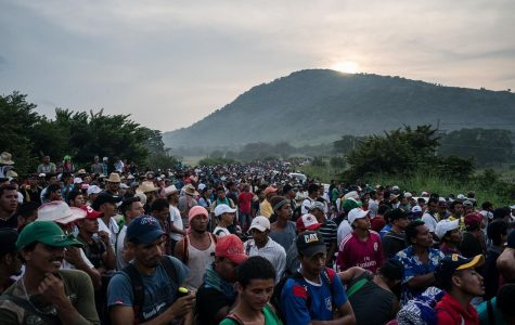 The migrant caravan has thousands of people march from Honduras to the southern U.S. border in hopes of being allowed entry into the United States while illegally crossing national borders. The men, women, and children marched 2500 miles starting on October 13.