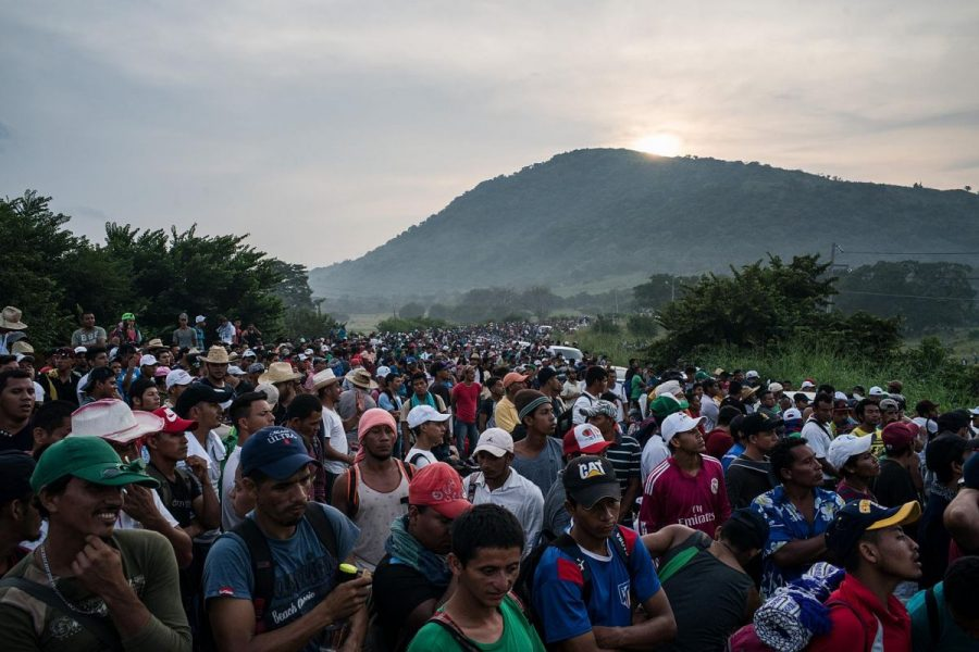 The+migrant+caravan+has+thousands+of+people+march+from+Honduras+to+the+southern+U.S.+border+in+hopes+of+being+allowed+entry+into+the+United+States+while+illegally+crossing+national+borders.+The+men%2C+women%2C+and+children+marched+2500+miles+starting+on+October+13.+