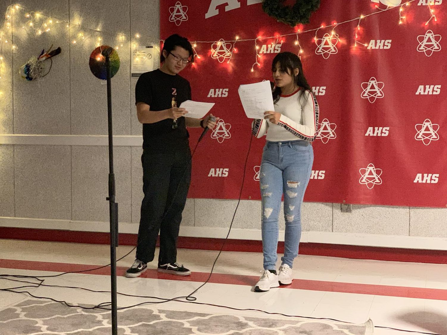 "Juniors Duc Ngo and Johana Guillen performed a one-act play titled ""Mars and Persephone."