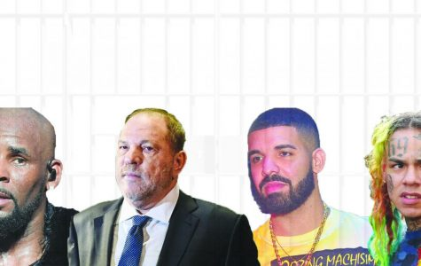 Rapper R. Kelly, film producer Harvey Weinstein, artist Drake, and rapper Tekashi 6ix9ine (Left to Right, R. Kelly, Harvey Weinstein, Drake, Tekashi 6ix9ine), all been accused or convicted of sexual misconduct.
