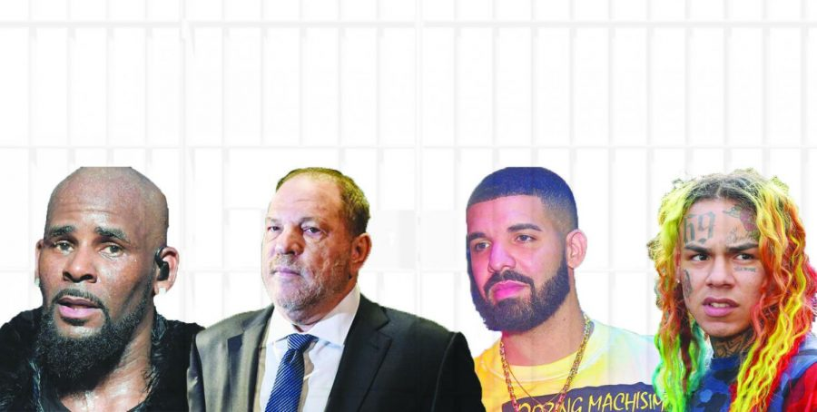 Rapper+R.+Kelly%2C+film+producer+Harvey+Weinstein%2C+artist+Drake%2C+and+rapper+Tekashi+6ix9ine+%28Left+to+Right%2C+R.+Kelly%2C+Harvey+Weinstein%2C+Drake%2C+Tekashi+6ix9ine%29%2C+all+been+accused+or+convicted+of+sexual+misconduct.+
