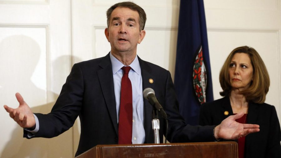 Calls+for+Northam+to+resign+have+increased+amid+the+release+of+a+yearbook+photo.+